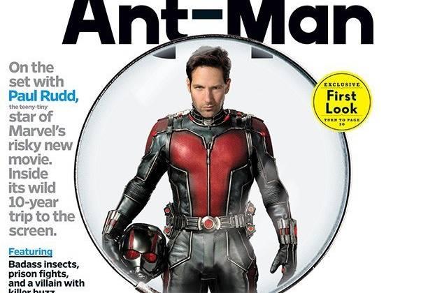 Hình ảnh của Ant-Man trên bìa tạp chí EW số mới nhất.