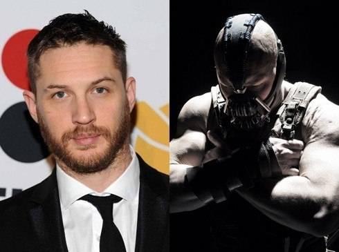Tom Hardy đóng vai phản diện Bane trong