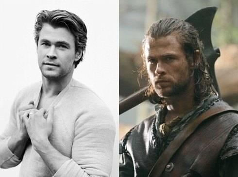 Chris Hemsworth với hình ảnh phong trần của nhân vật thợ săn Eric trong
